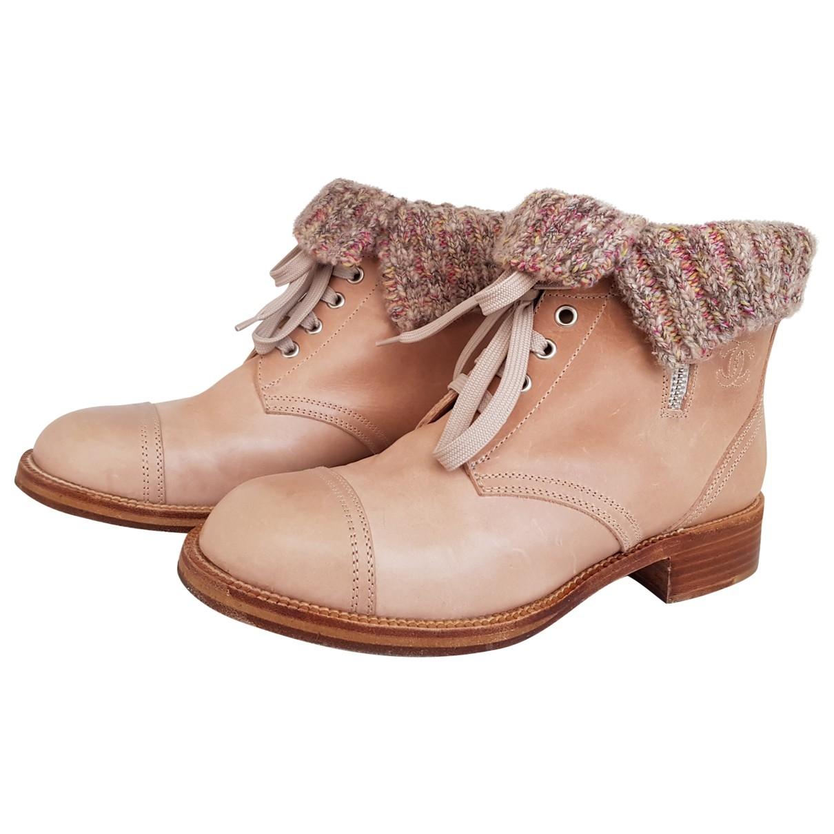 Botas con cordones de Cuero Chanel