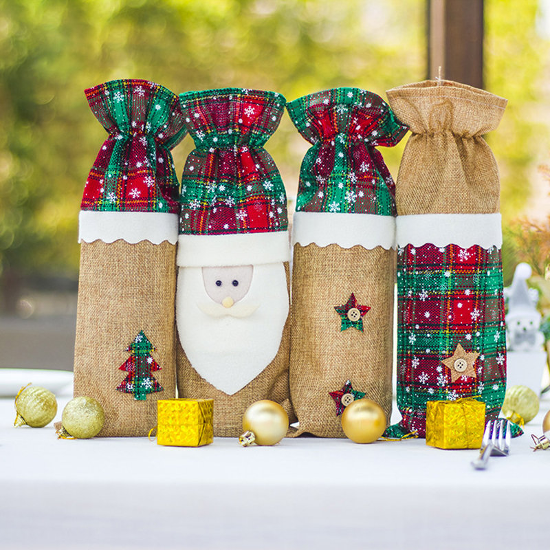 Christmas Red Wine Set Christmas Table Creative Decoration Christmas Red Wine Bottle Bag Champagne