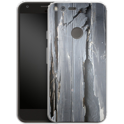 Google Pixel Silikon Handyhuelle - Wood Black Fence von Brent Williams