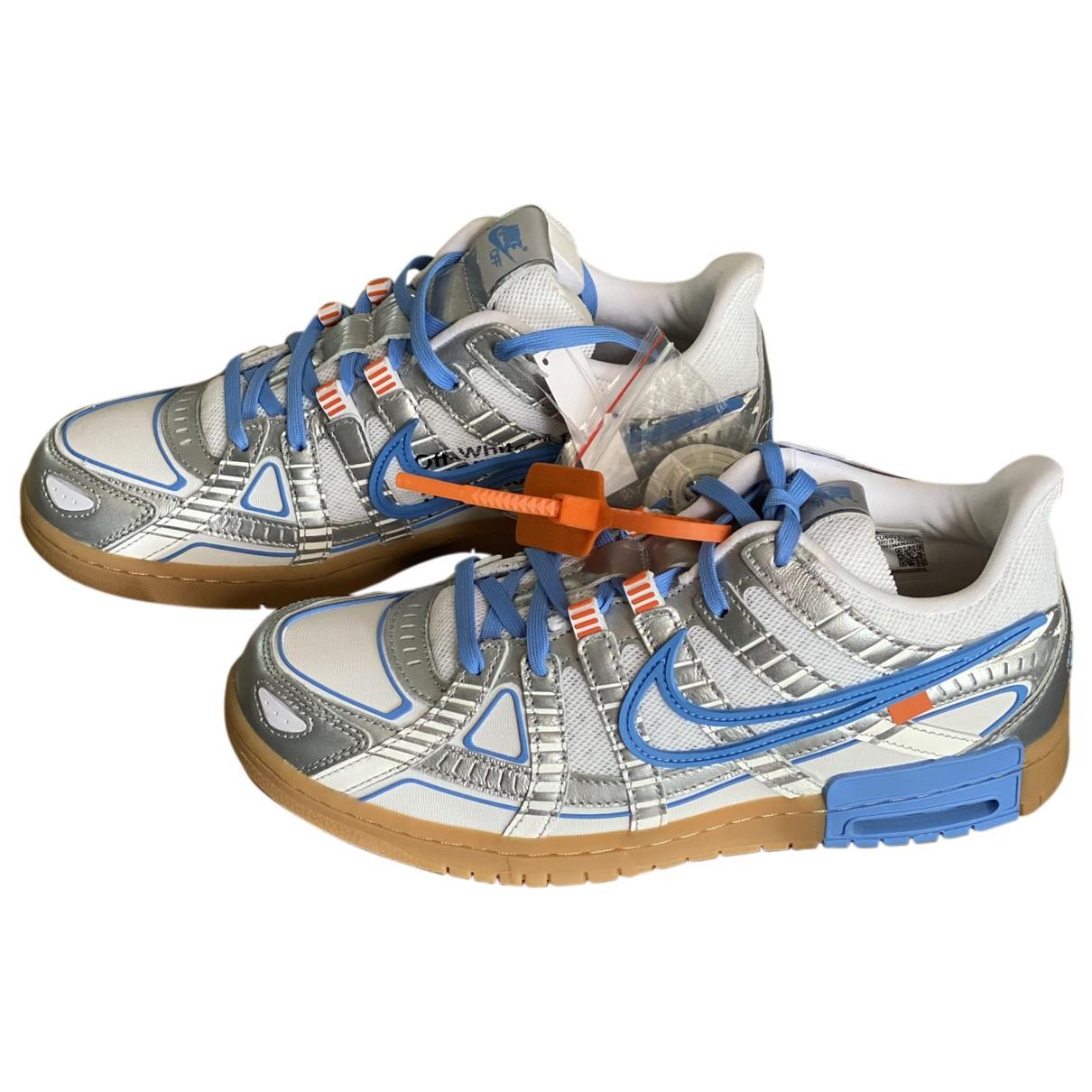Nike X Off-white Rubber Dunk Sneakers in  Grau Leder
