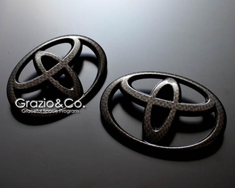 Grazio & Co. GRAZ-86-CRE Carbon Look Rear Toyota Emblem Scion FR-S 13+