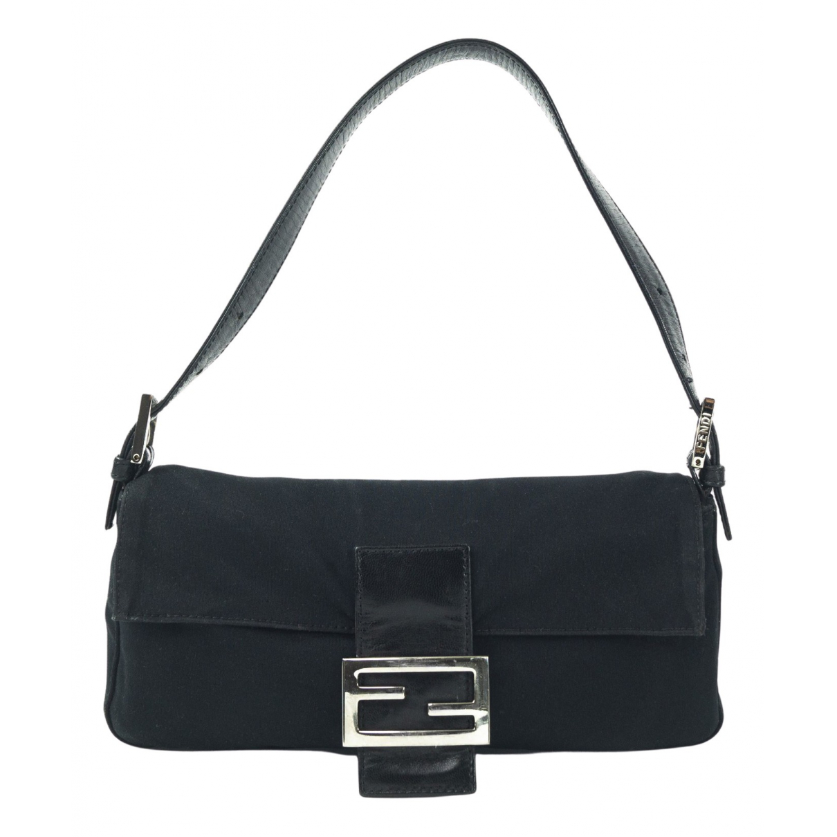 Fendi Baguette Black Cloth handbag for Women N