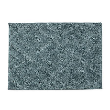 Mohawk Home Diamond Quick Dry Bath Rug, One Size , Blue