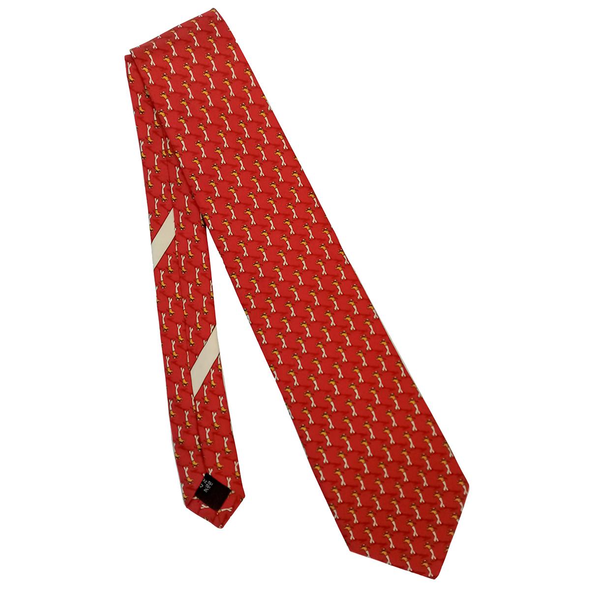 Salvatore Ferragamo - Cravates   pour homme en soie - rouge