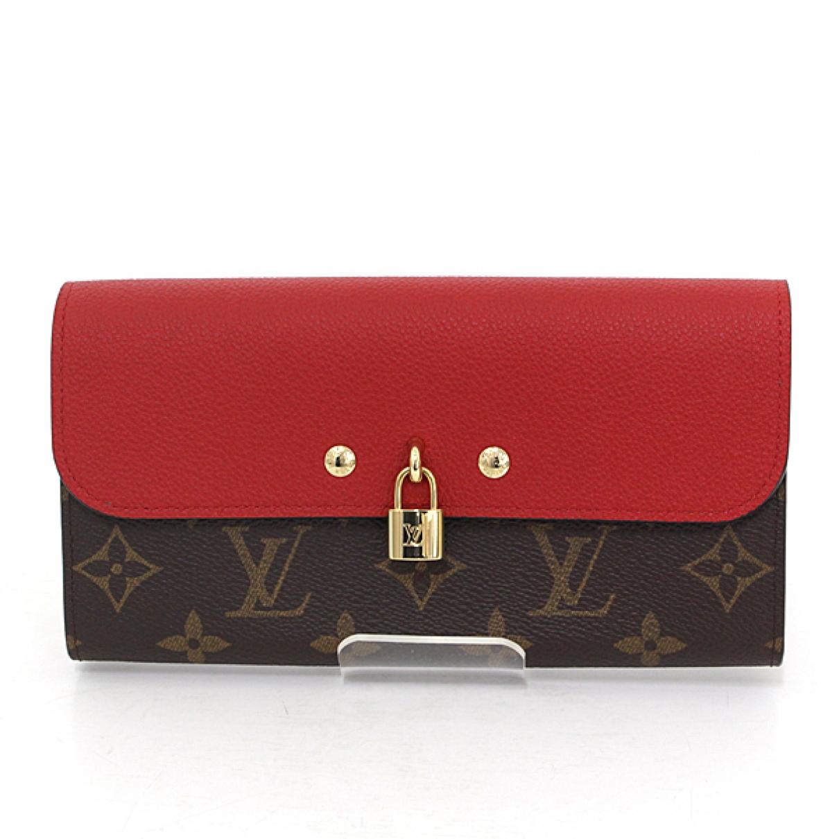 Louis Vuitton - Portefeuille Venus pour femme en toile - marron