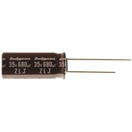Rubycon 47μF Electrolytic Capacitor 100V dc, Through Hole - 100ZLJ47M8X16 (5)