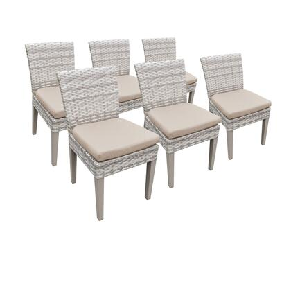 TKC245b-ADC-3x-C-WHEAT 6 Fairmont Armless Dining Chairs with 2 Covers: Beige and