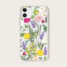 1 pieza funda de iphone floral