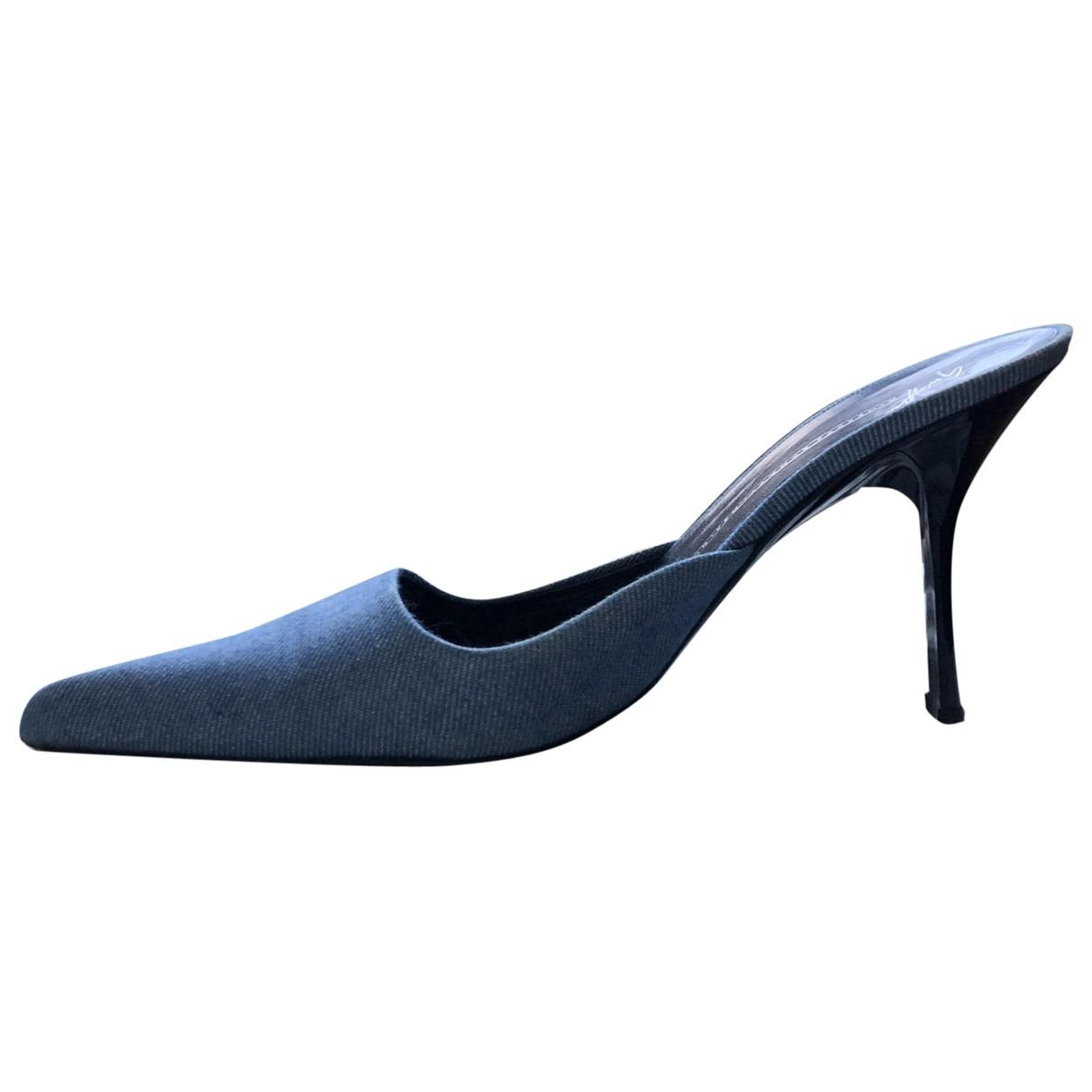 Giuseppe Zanotti - Sandales   pour femme en toile - bleu