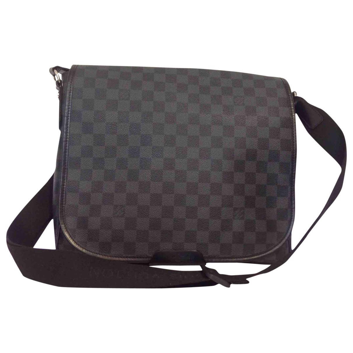 Louis Vuitton Abbesses Messenger Taschen in  Schwarz Leinen