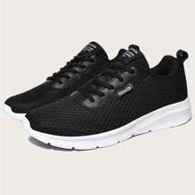 Zapatillas deportivas de hombres con letra con cordon delantero