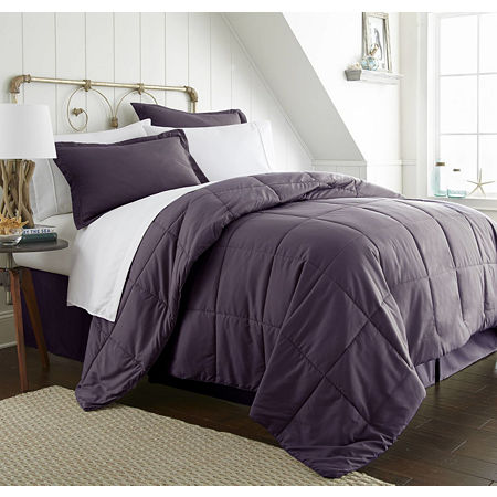 Ienjoy Home Casual Comfort Premium Ultra Soft Complete Bedding Set with Sheets, One Size , Purple