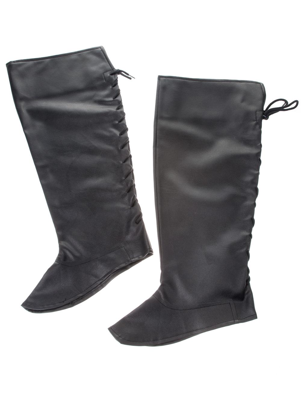 Kostuemzubehor Stiefelstulpen zum Schnueren schwarz