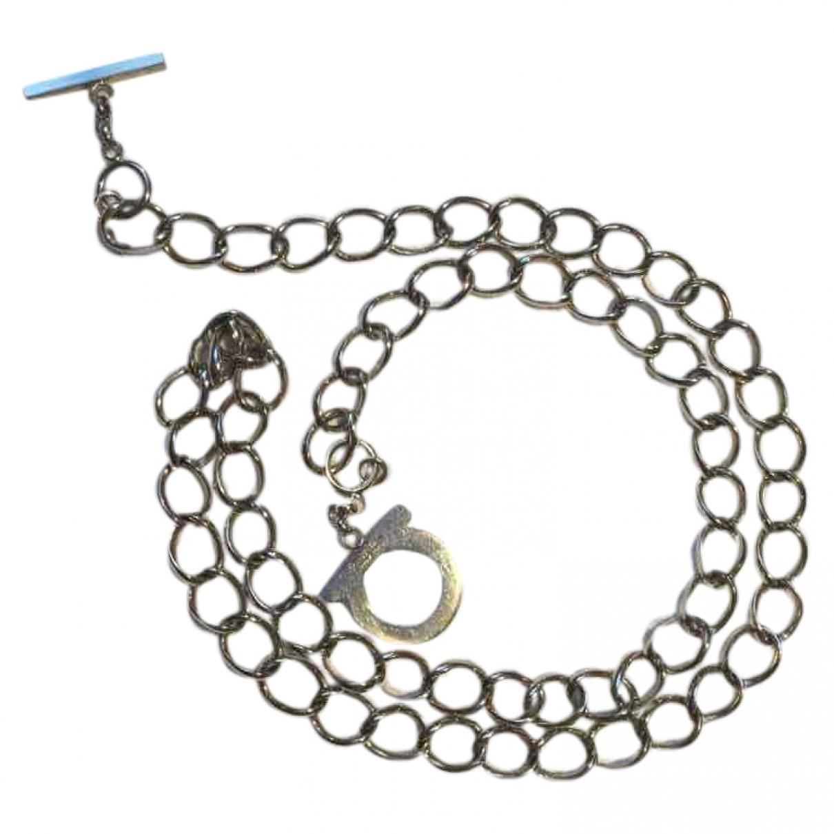 Salvatore Ferragamo \N Gold Steel Long necklace for Women \N