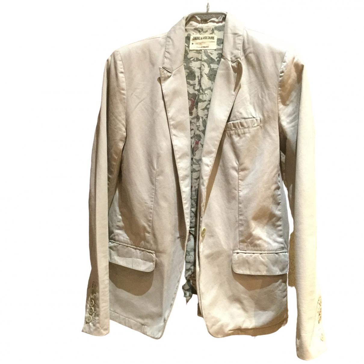 Zadig & Voltaire \N Beige Cotton jacket for Women S International