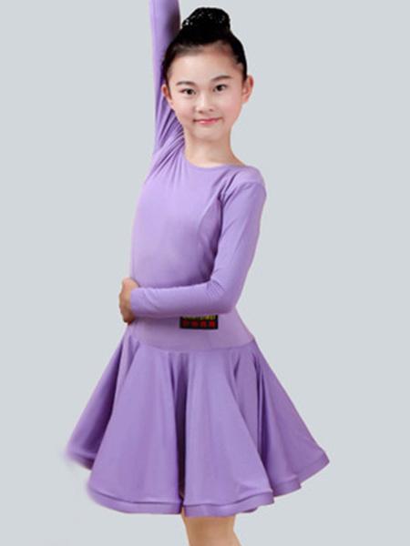 Milanoo Dance Costumes Latin Dancer Dresses Costume Kids Orange Long Sleeve Short Ballroom Dancing Halloween