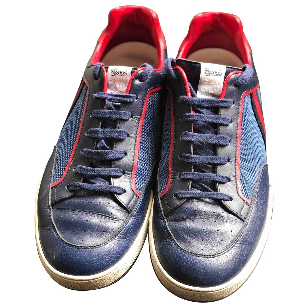 Gucci \N Blue Leather Trainers for Men 11 UK