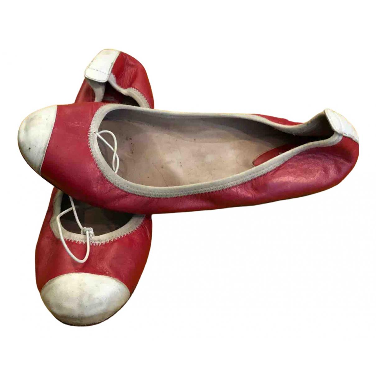 Bloch \N Ballerinas in  Rot Leder