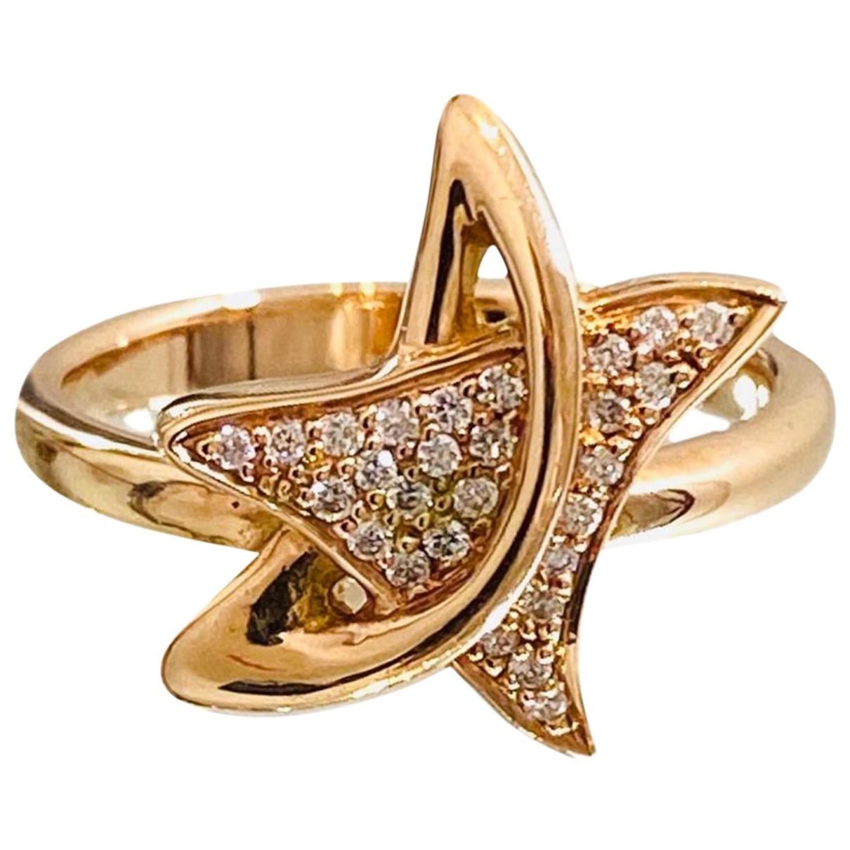 - Bague Motifs Etoiles pour femme en or rose - dore