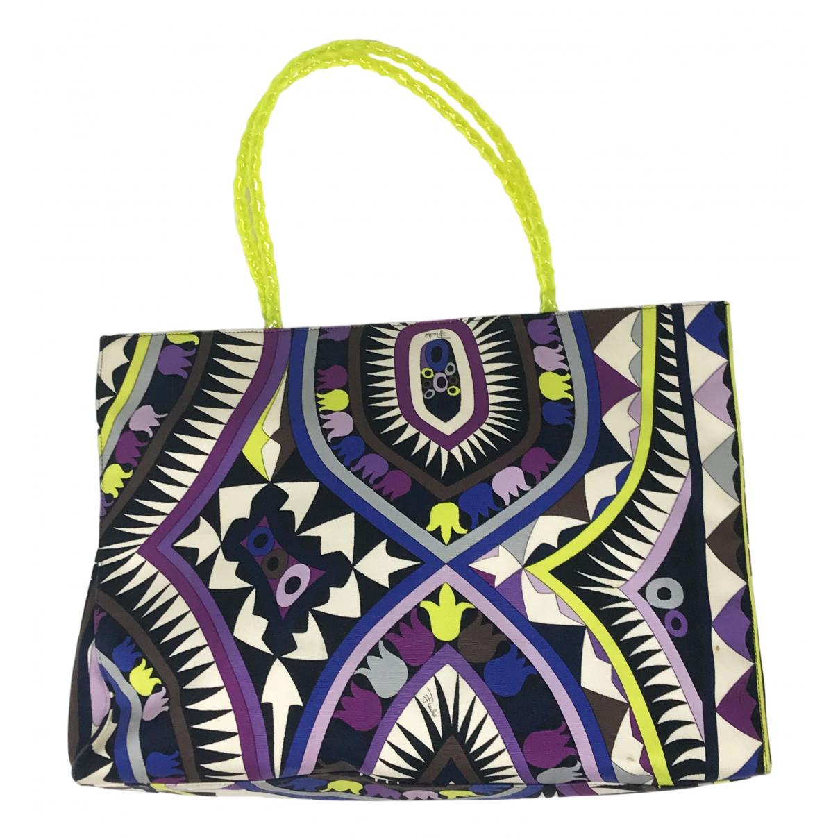 Emilio Pucci \N Purple Cotton handbag for Women \N
