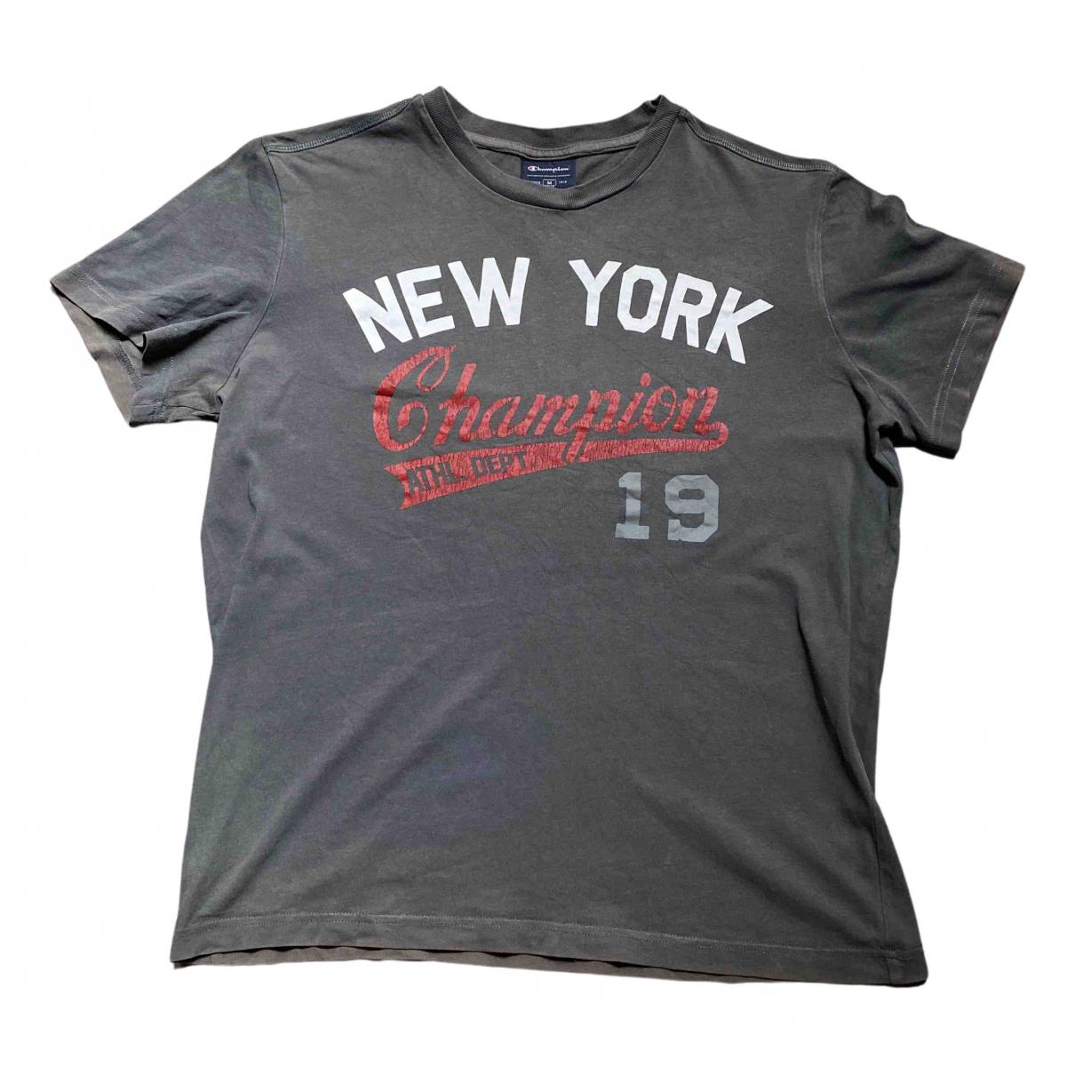 Champion \N Grey Cotton T-shirts for Men M International