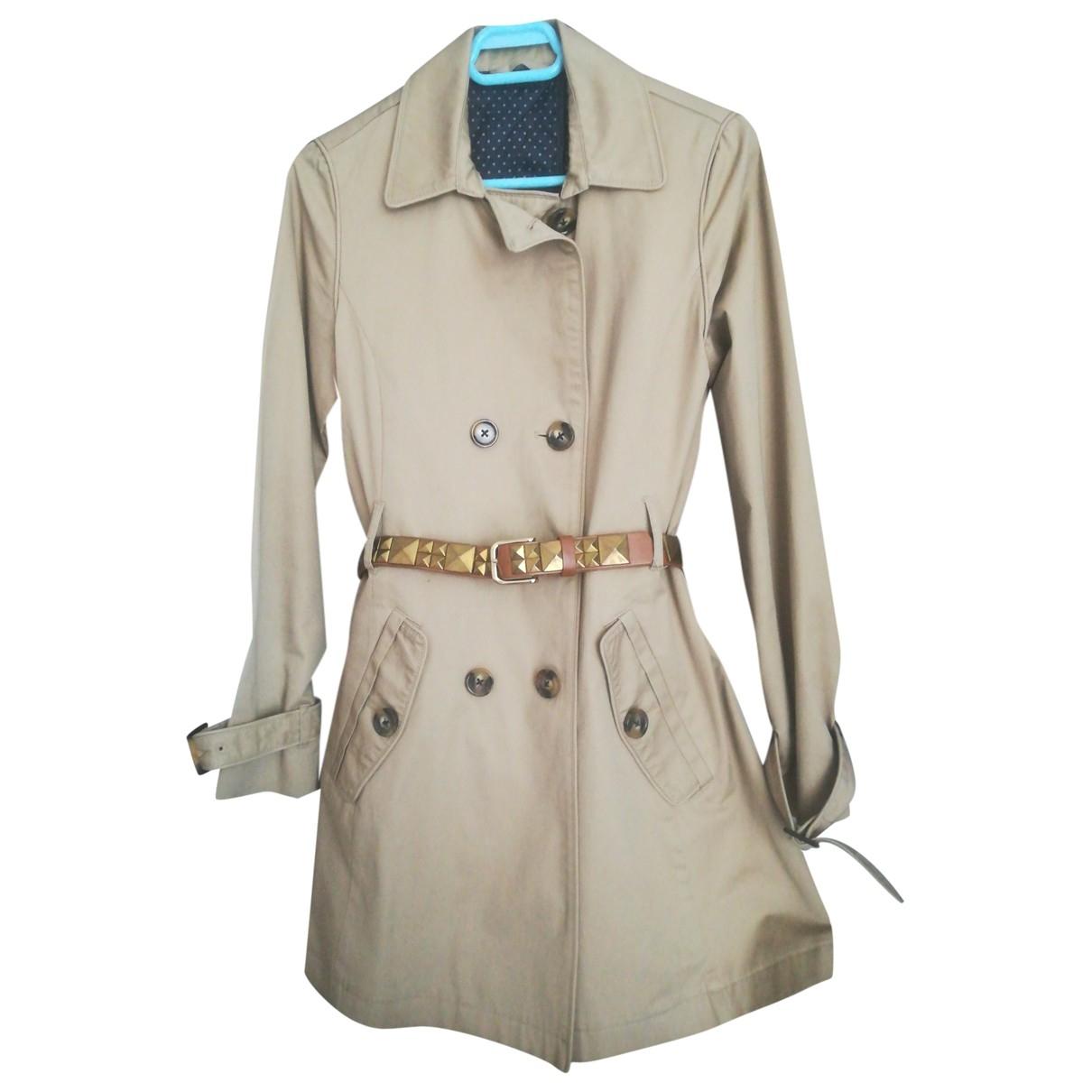 Topshop - Manteau   pour femme en coton - beige