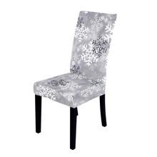 Dehnbarer Stuhlbezug mit Weihnachten Schneeflocke Muster