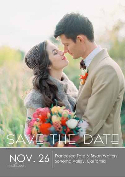 Save the Date 5x7 Cards, Premium Cardstock 120lb with Rounded Corners, Card & Stationery -Save the Date Lettering