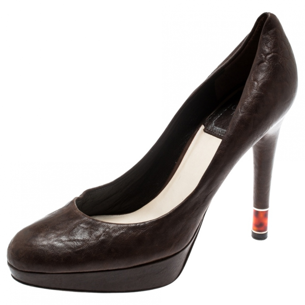 Dior \N Brown Leather Heels for Women 36 EU