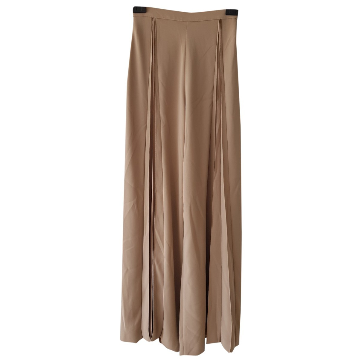 Thierry Mugler \N Beige Trousers for Women 40 FR