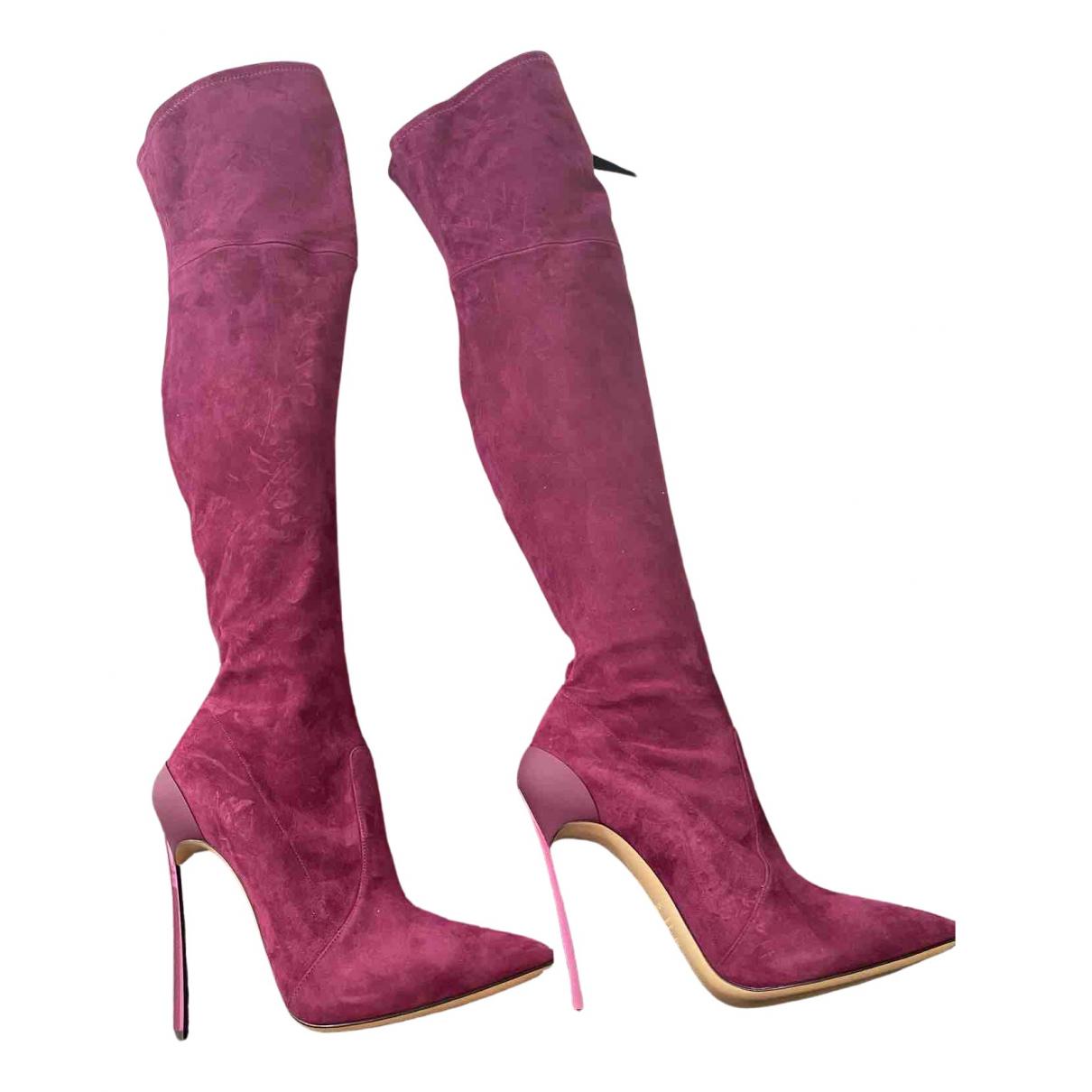 Casadei N Suede Boots for Women 37.5 EU