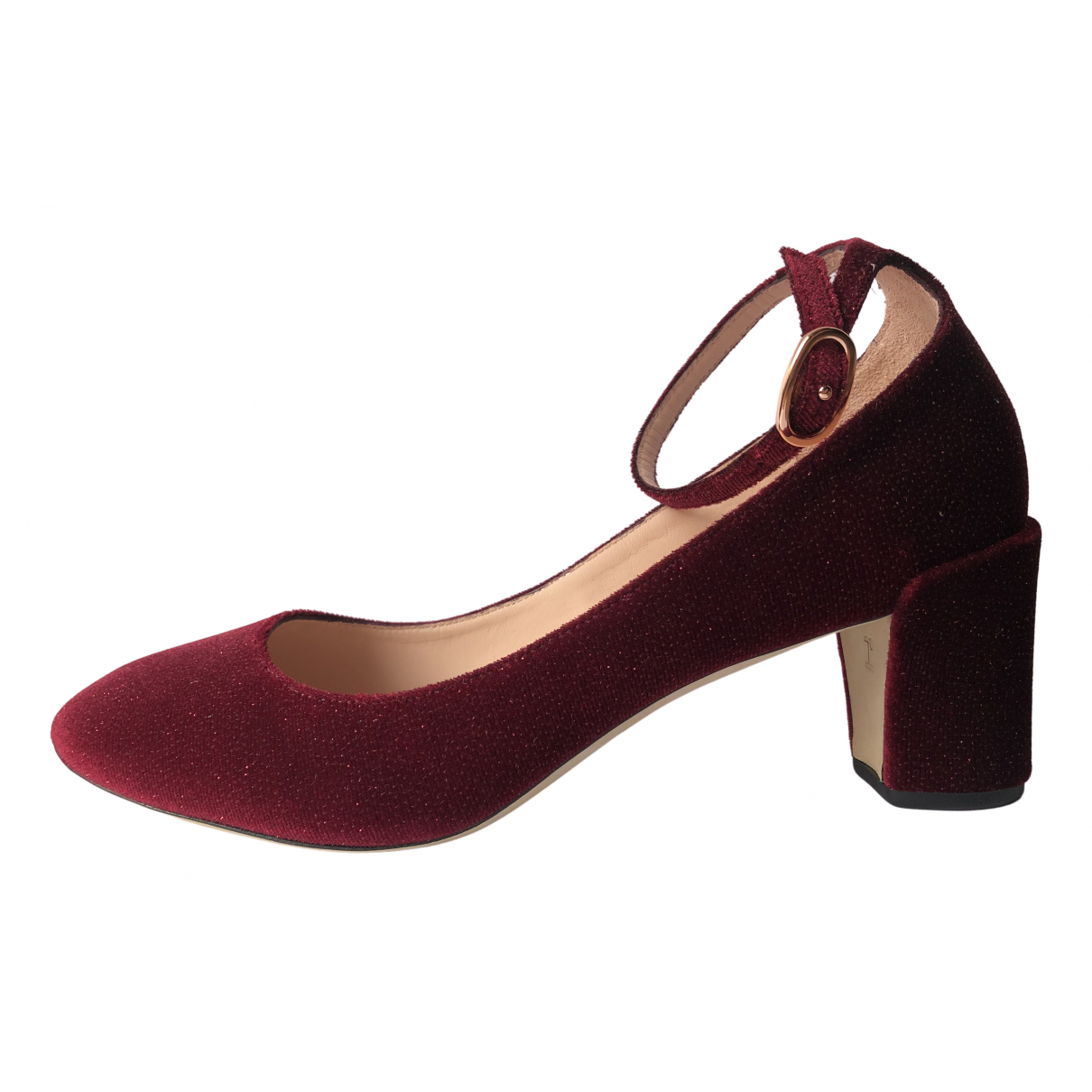 Repetto \N Ballerinas in  Rot Samt