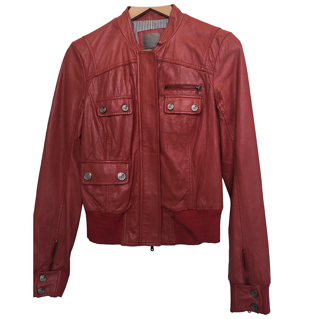 Pinko \N Lederjacke in  Rot Leder