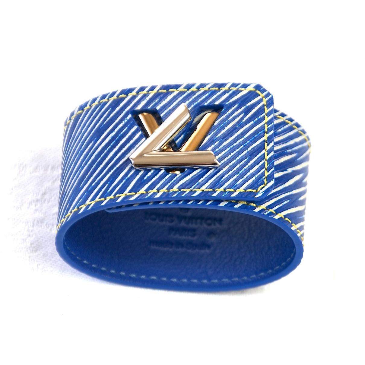 Louis Vuitton Twist Blue Leather bracelet for Women \N