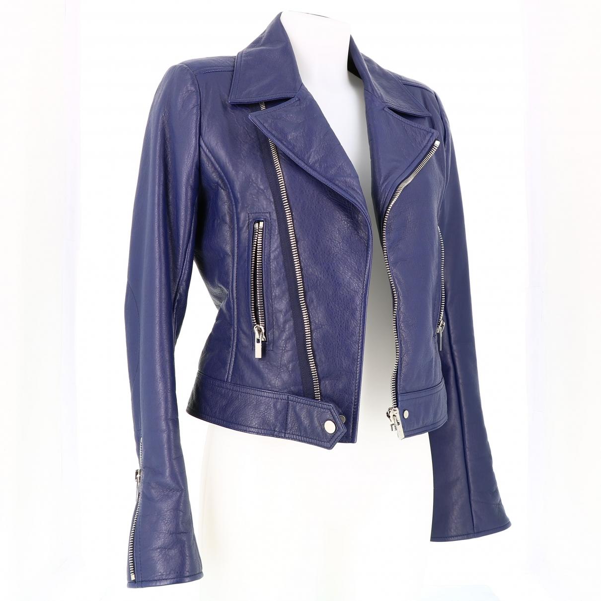 Balenciaga \N Blue Leather jacket for Women 40 FR