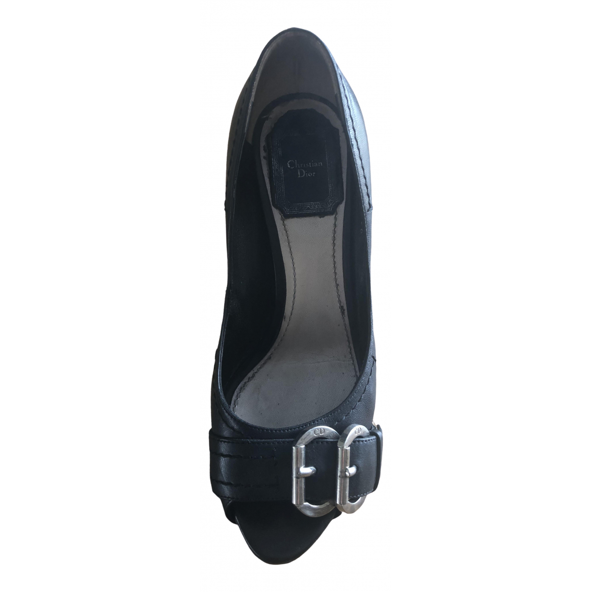 Dior \N Black Leather Heels for Women 36.5 EU