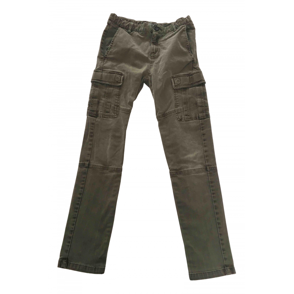 Bonpoint N Khaki Cotton Trousers for Kids 12 years - XS FR