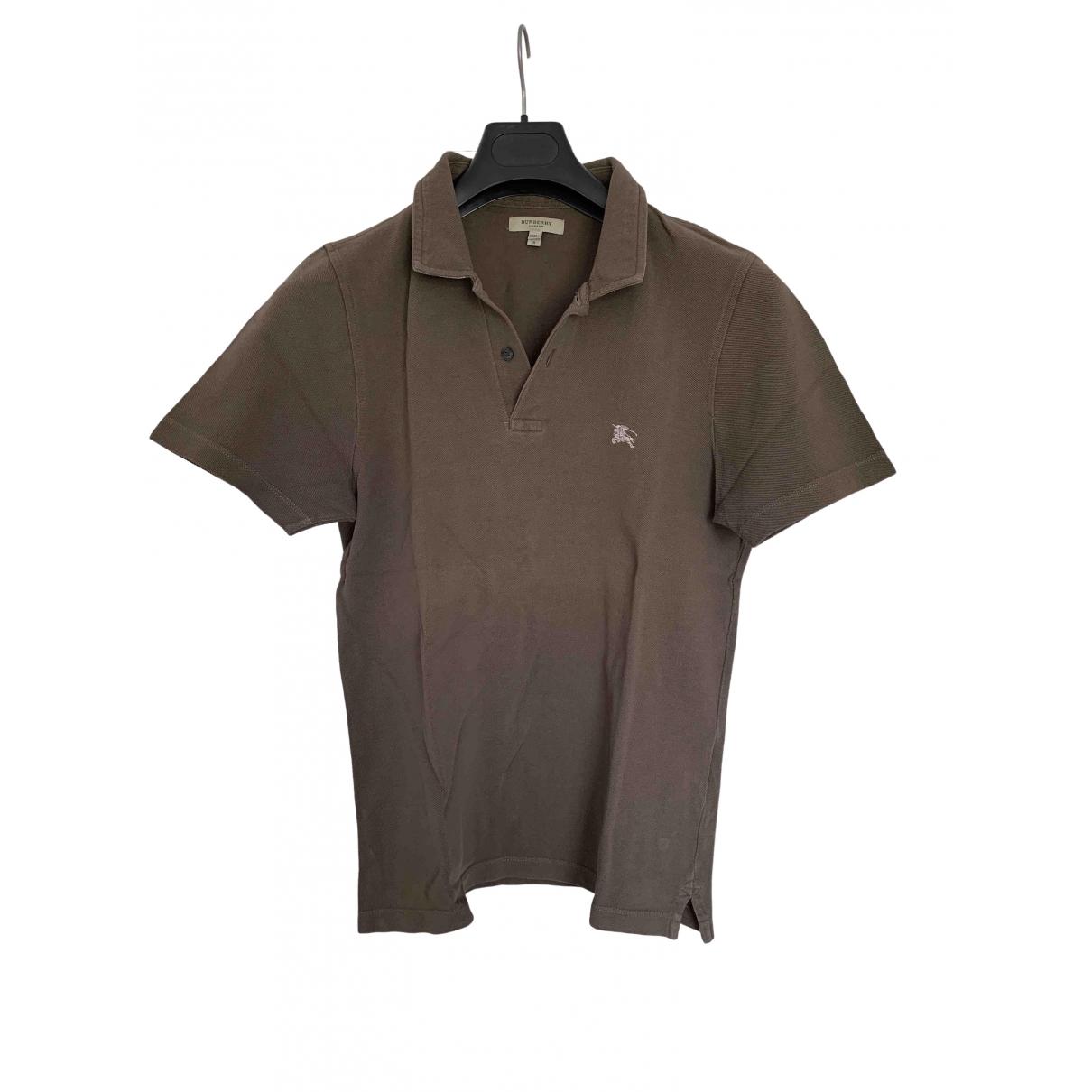 Burberry \N Poloshirts in  Khaki Baumwolle