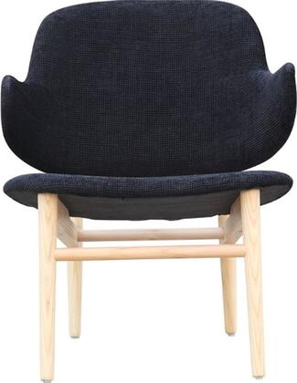 FMI10108-BLACK Fine Mod Imports Atel Lounge Chair in Black