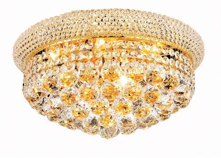 V1800F16G/SS 1800 Primo Collection Flush Mount D:16In H:8In Lt:8 Gold Finish (Swarovski   Elements