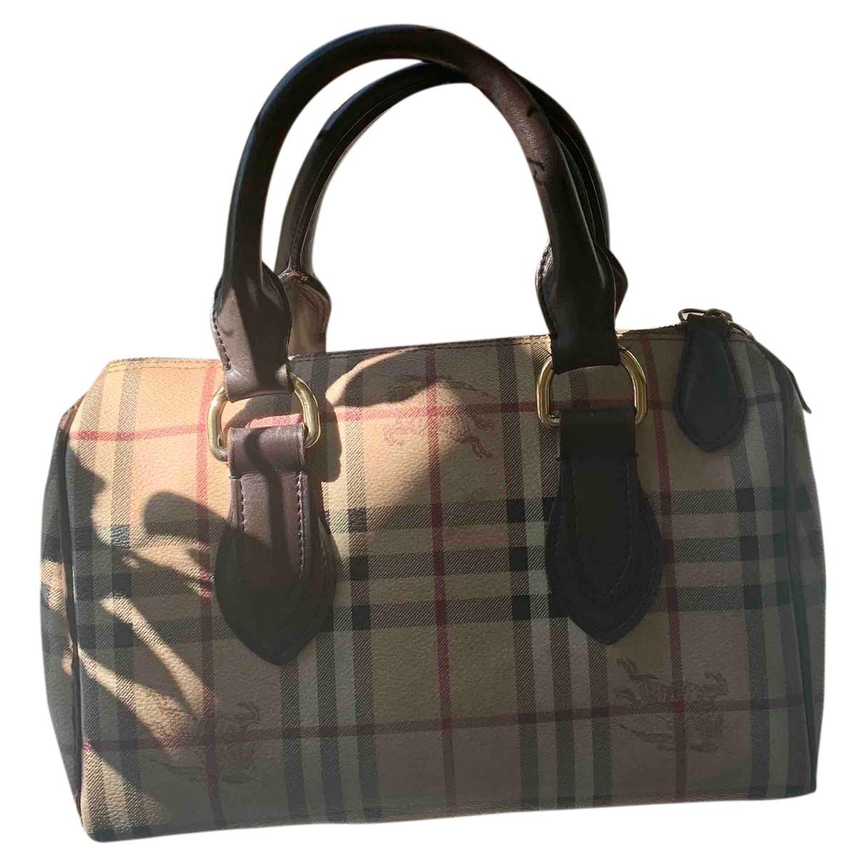 Burberry \N Handtasche in  Beige Kalbsleder in Pony-Optik