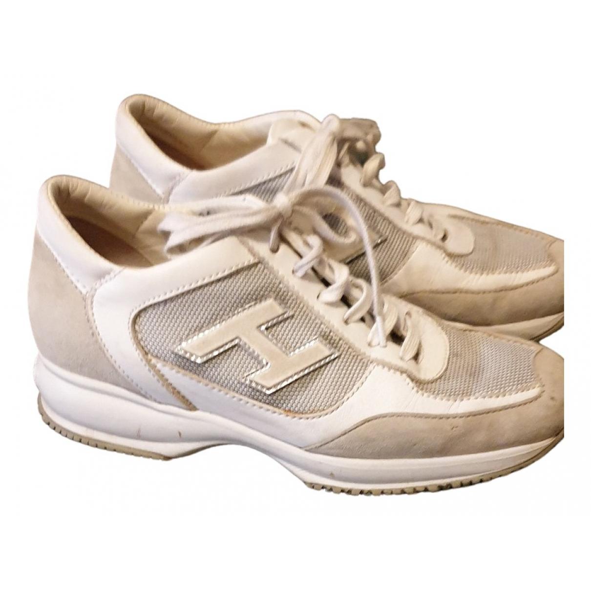 Hogan - Derbies   pour femme en cuir - blanc