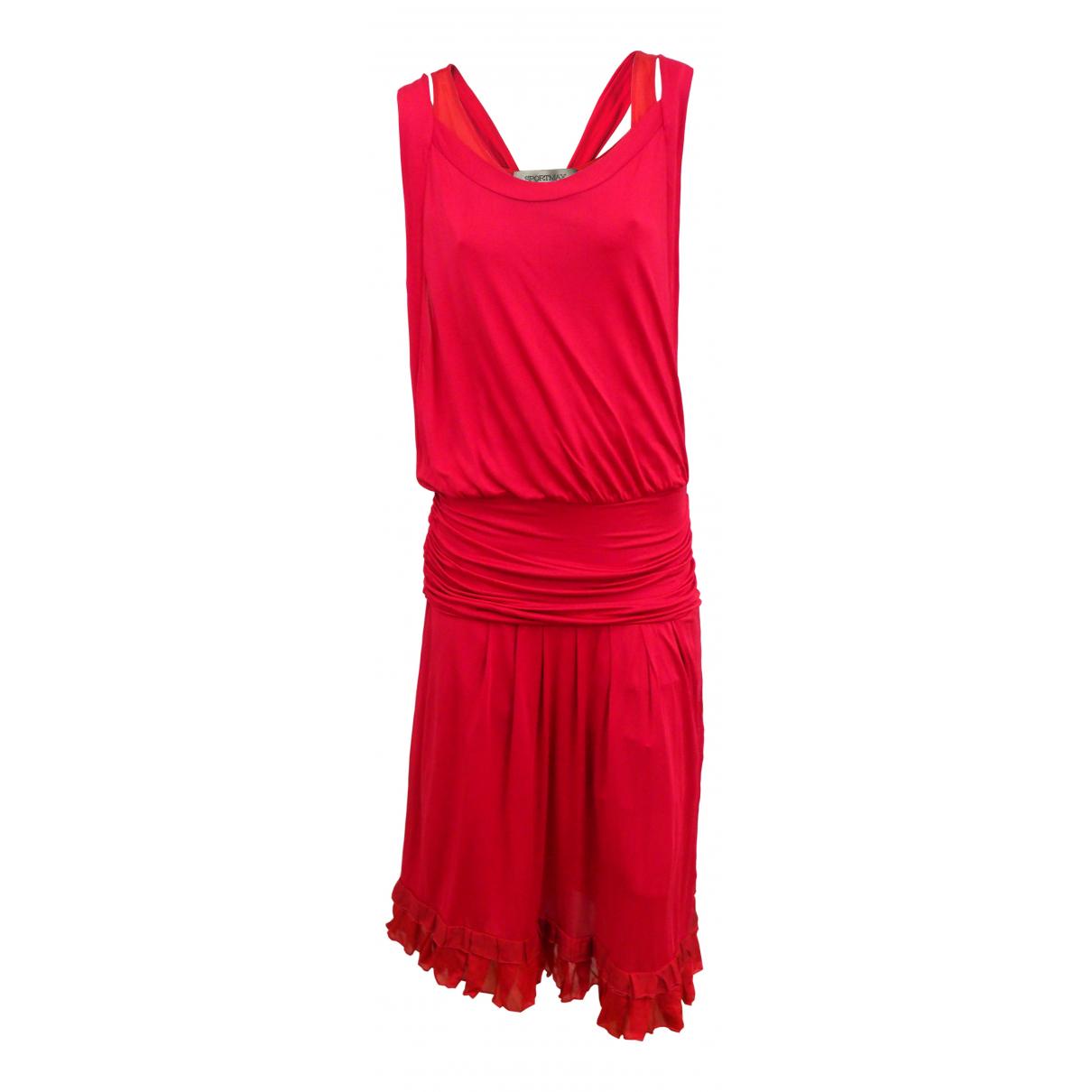 Sport Max - Robe   pour femme en soie - rose