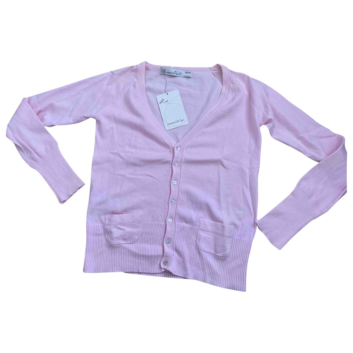 Zara - Veste   pour femme en coton - rose