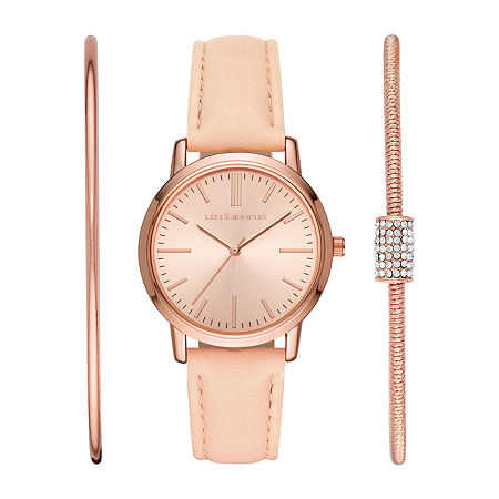 Liz Claiborne Womens Pink 3-pc. Watch Boxed Set-Lc1380t, One Size , No Color Family