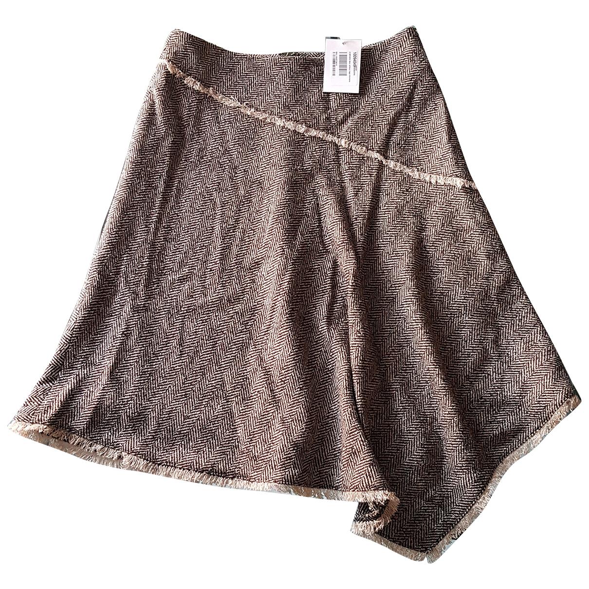 Dkny - Jupe   pour femme en laine - marron
