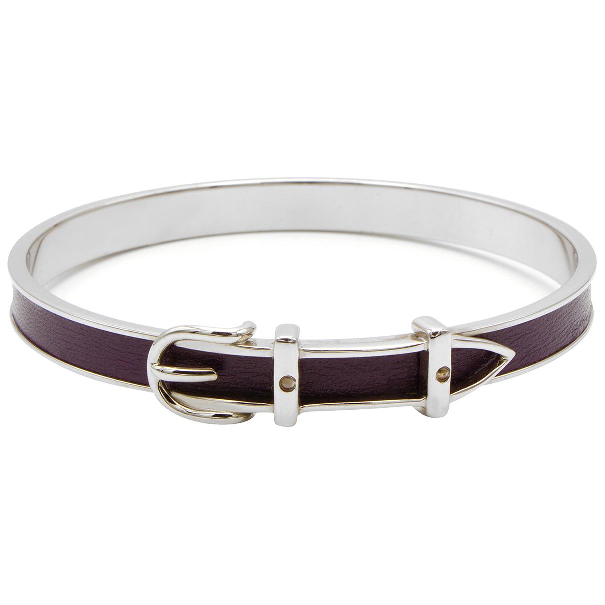 Hermès Ceinture Silver Metal bracelet for Women N