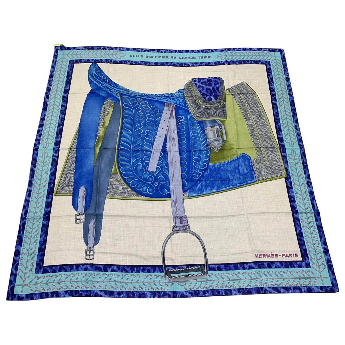 Hermès Châle 140 Blue Cashmere scarf for Women N