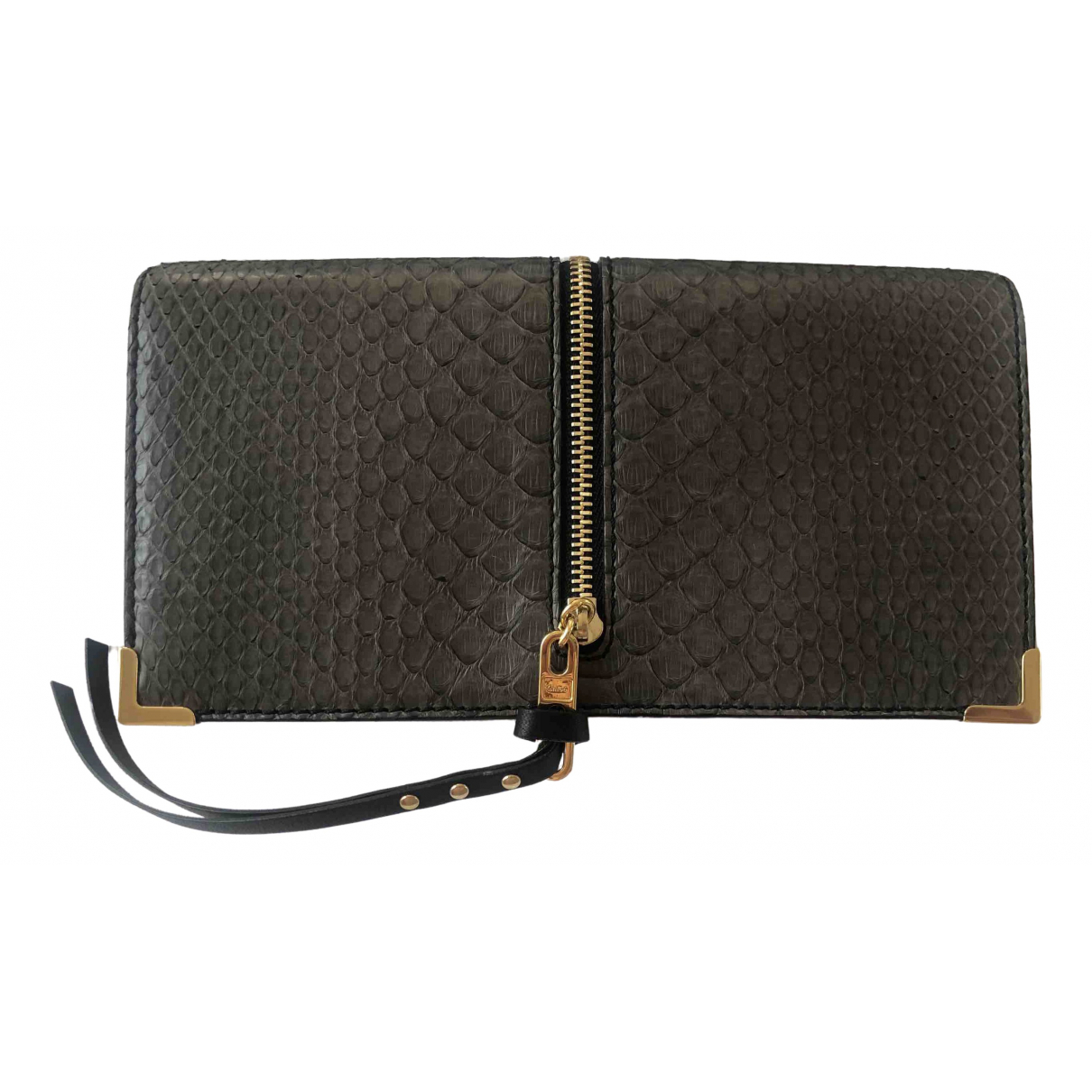 Chloé \N Anthracite Python wallet for Women \N