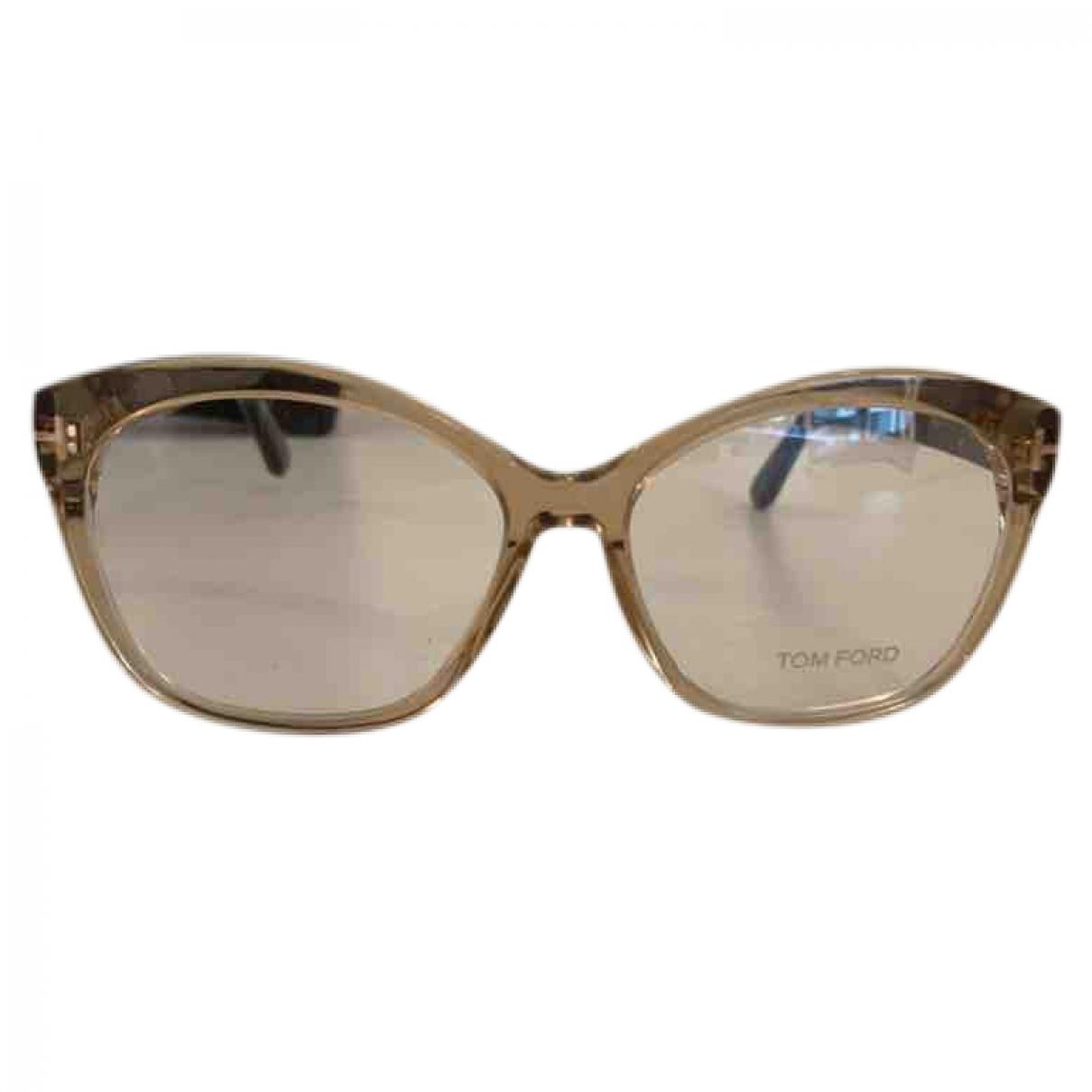 Tom Ford - Lunettes   pour femme - beige